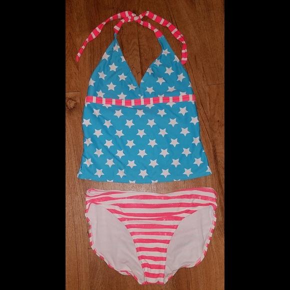 Circo Swimsuit Pink Bathing Suit Swim Wear Ruffle fuchsia 1 piece girls 18M 9M